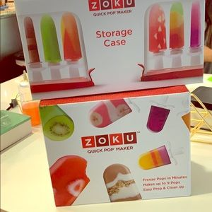 Unused zoku popsicle maker and storage case